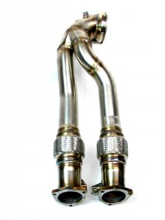 HPerformance doppelflutige 2x70mm Downpipe RS3 8V