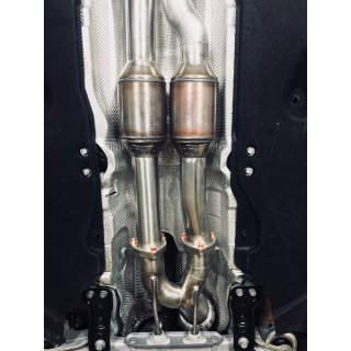 HPerformance 90mm Downpipe einflutig TT RS 8S & RS3 FL 400PS  mit Katalysatoren